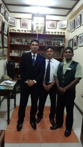 Grand Oriental Hotel Museum with (l to r) Mr. Chandika, Mr. Nandana and Mr. Dushaatha.