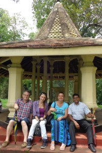 The Stapels family and guide at the Royal Botanical Gardens.l