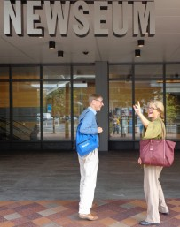 Peat O'Neil (r) and David Stanton at the Newseum, Washington DC.
