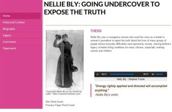 Nellie Bly website created by Callie Slevin